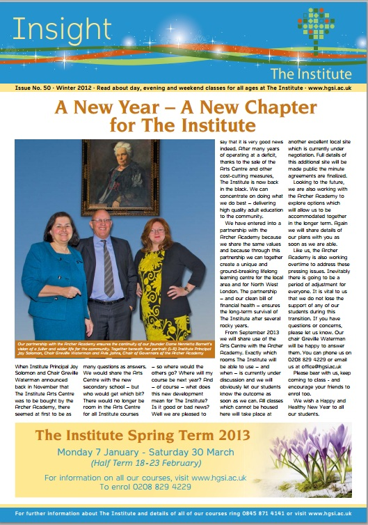Institute Insight cover jan13